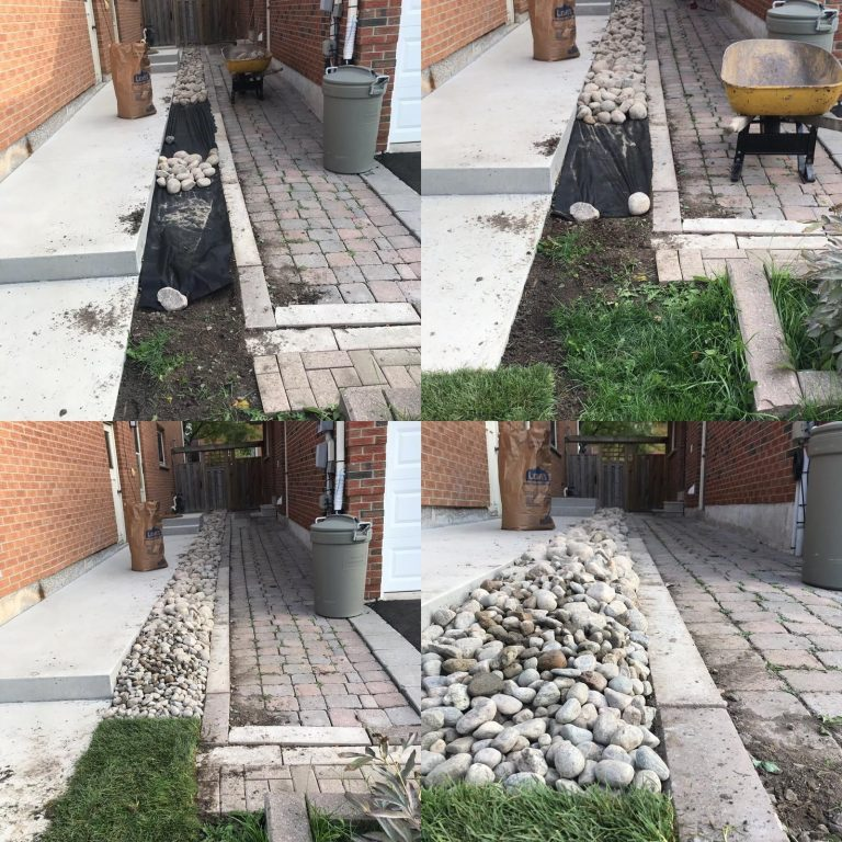 Before and After of Interlocking Project Toronto