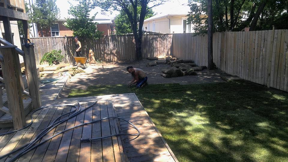 ISR Gardening Team in Progress Installing New Sodding