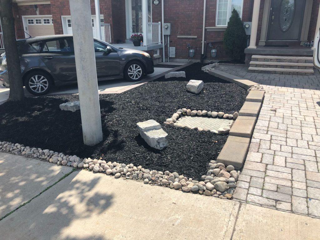 Front Yard with Mulching Toronto
